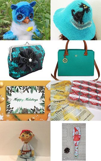 My blue owly was added to  Blue Green Yellow November by Jelena on Etsy