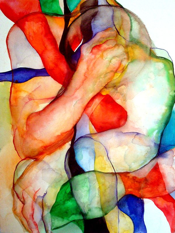 """Sound of Light and Color"" - Vassia Alaykova {contemporary artist figurative male"