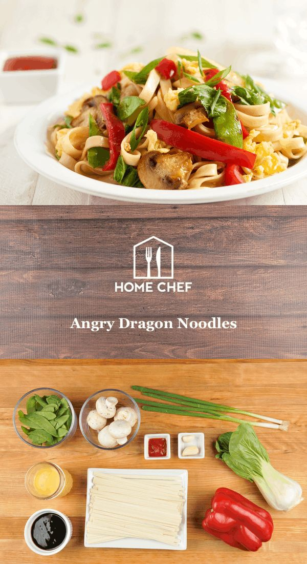 Angry Dragon Noodles with mushrooms, snow peas, and eggs