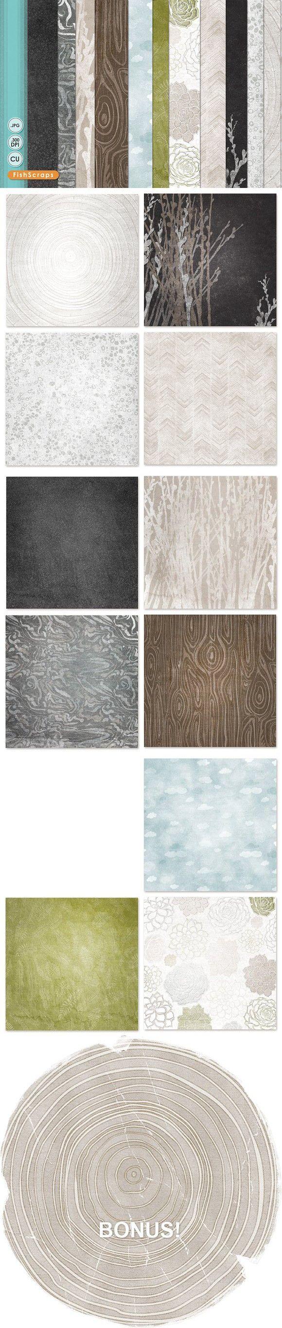 Natural Organic Pattern Paper. Patterns