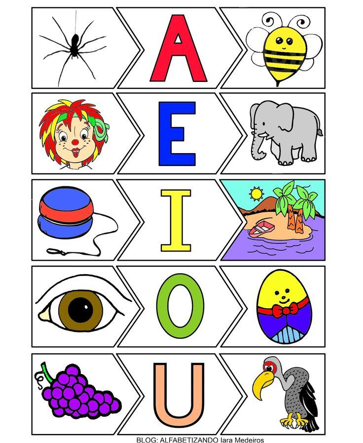 Alfabetizando - Iara Medeiros: Trabalhando com as vogais – parte 2
