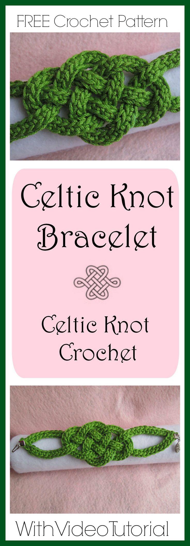 Celtic Knot Bracelet - Celtic Knot Crochet -Jennifer E Ryan  - FREE crochet pattern with video tutorials