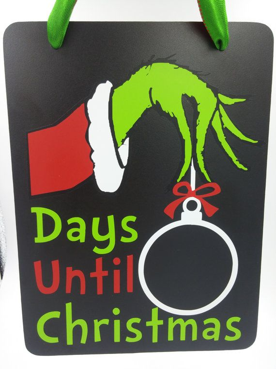Days Till Christmas Chalkboard.Countdown Until Christmas Chalkboard Christmas Countdown