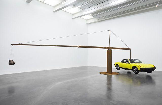 Chris Burden . Porsche with meteorite, 2013
