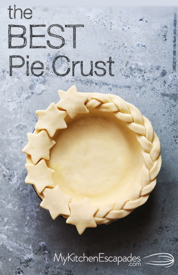 Homemade pie crust recipe that is simple, delicious and the best! Turns out flaky and light and uses both butter and shortening. Cooks Illustrated