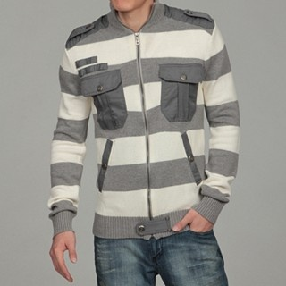 WT02 gray and white stripe sweater, $39.99