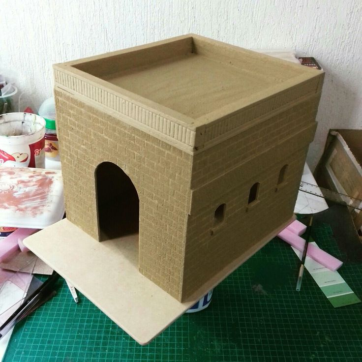Temple of Belen that I am currently working on for a client. Have the front archway, pillars and door to finish then final coats of paint and should be complete. Watch this space for final results.