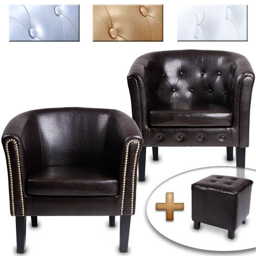 Chesterfield Sessel Lounge Couch Sofa Büro Möbel Sitzhocker Club Clubsessel  NEU