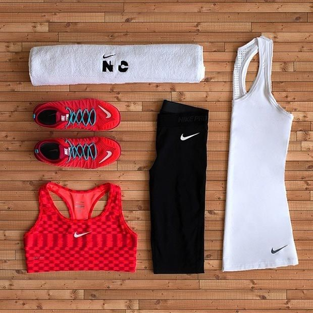 Black, Red and White Workout Gear
