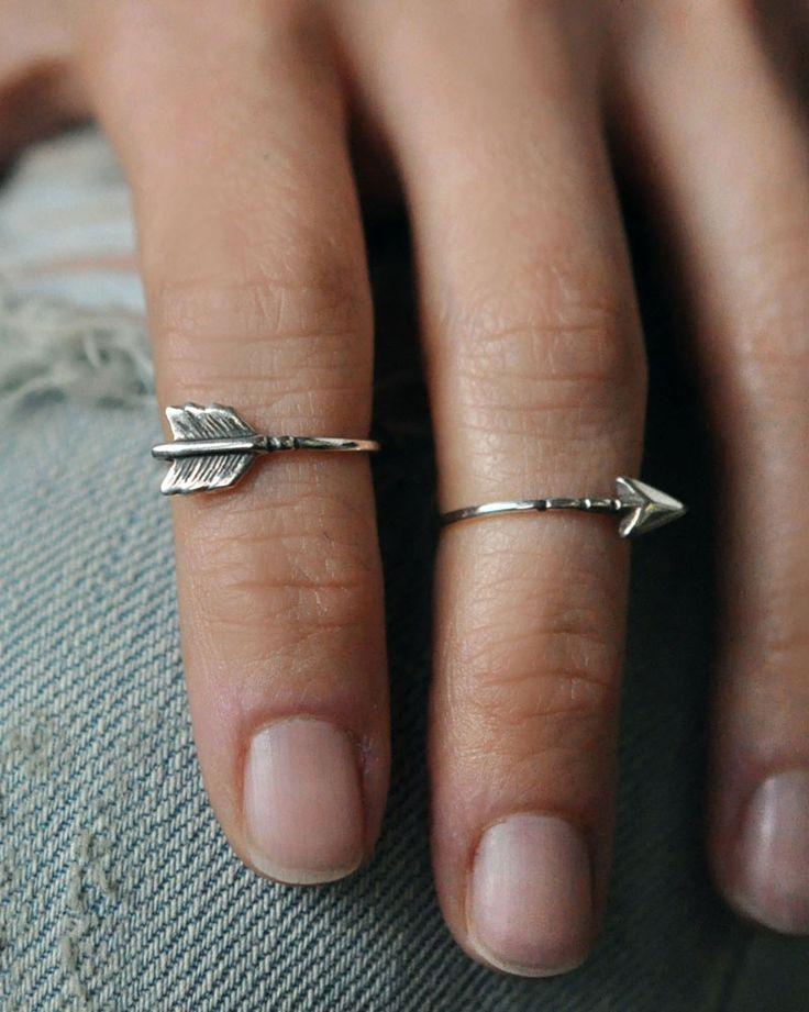 Brazenmade 2 Part Arrow Knuckle Ring