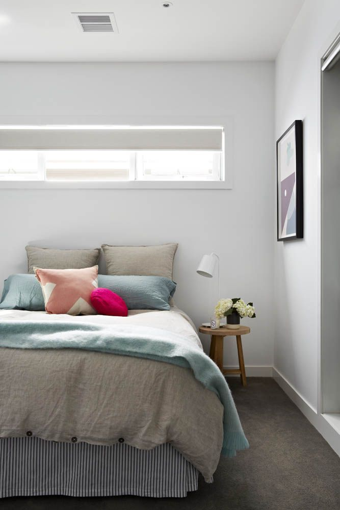Guest room of stylist Aimee Tarulli of Archer Interiors home