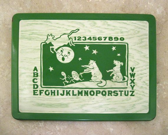 Vintage Porcelain Enamel Child's Table Top  by DrStrangeGoods, $80.00: Nursery Rhyme Theme, Abc, Tops, Vintage, Rhymes Theme, Nursery Rhymes, 1950 S Gaieti, Nurseries Rhymes, Enamels