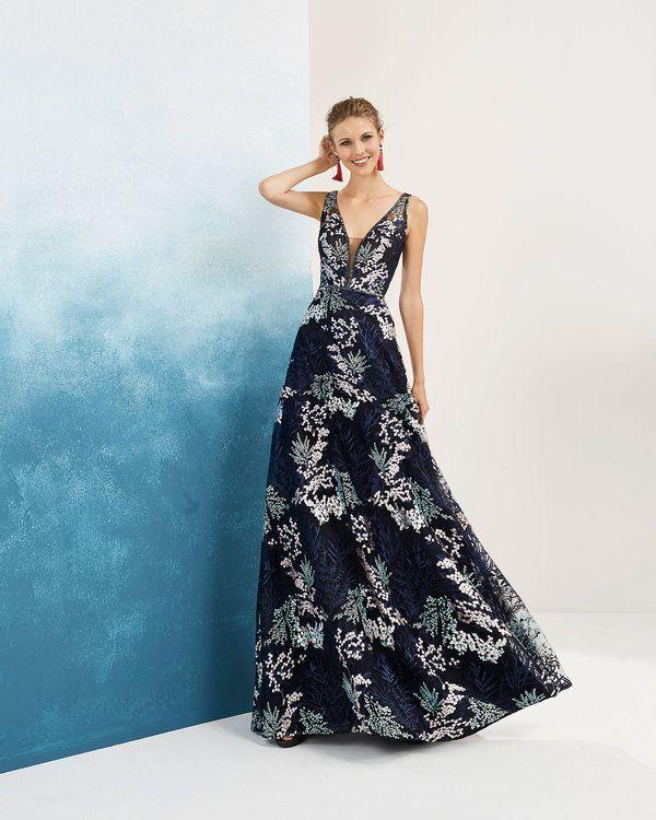 36b1ad02f4e 65 vestidos de fiesta estampados para matrimonio  ¡color e impacto en tu  look! en 2019