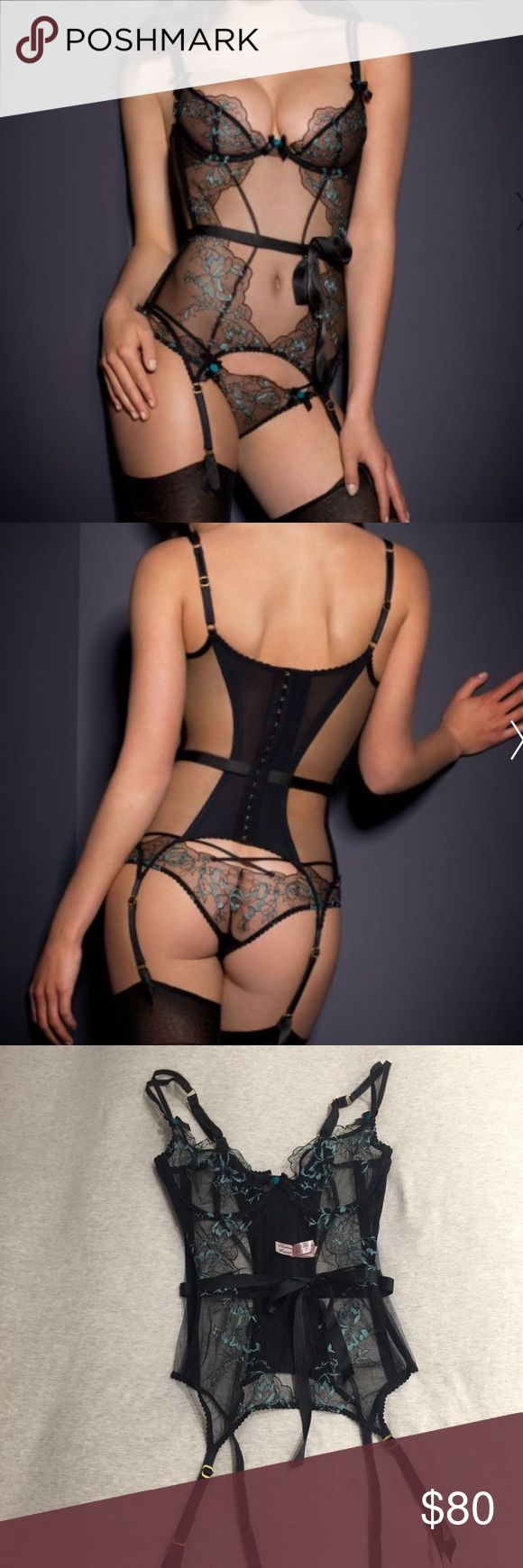 Agent Provocateur Callie Basque Lingerie Corset sexy lingerie that can easily pair with black lace thong! You can see nor sizing guide on their website. Agent Provocateur Intimates & Sleepwear Shapewear