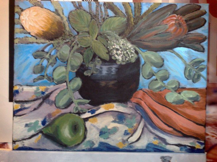 Painting, Acrylic, limited palette, my first still life painting