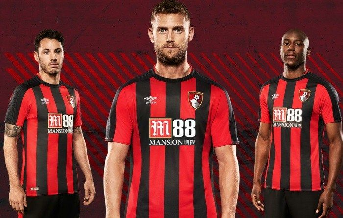 AFC Bournemouth 2017/18 Umbro Home Kit