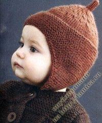 вязаная шапка будёновка из Fildar