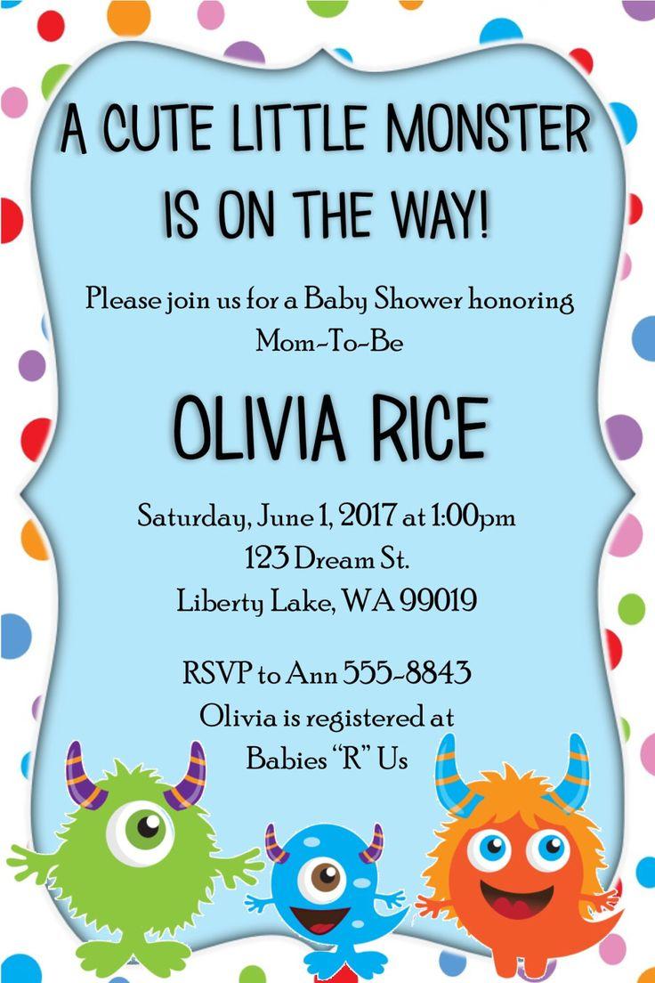 41 best Gender Reveal Baby Shower Invitation images on Pinterest ...