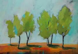 painting original orange green aqua - Bing Images