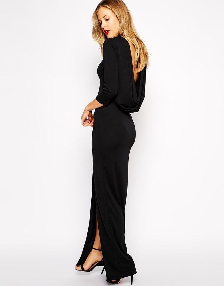 ASOS+Cowl+Back+Twist+Maxi+Dress