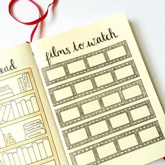 movies in bullet journal | 12 Layout Ideas You'll Want to Steal for Your Bullet Journal - The ...