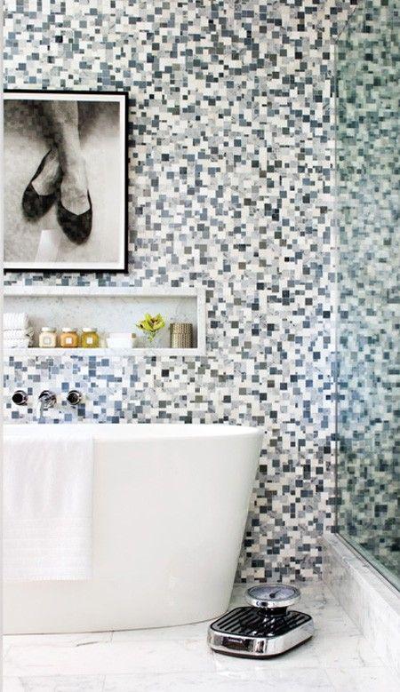 Les 25 meilleures id es de la cat gorie salle de bains - Salle de bain carrelee ...