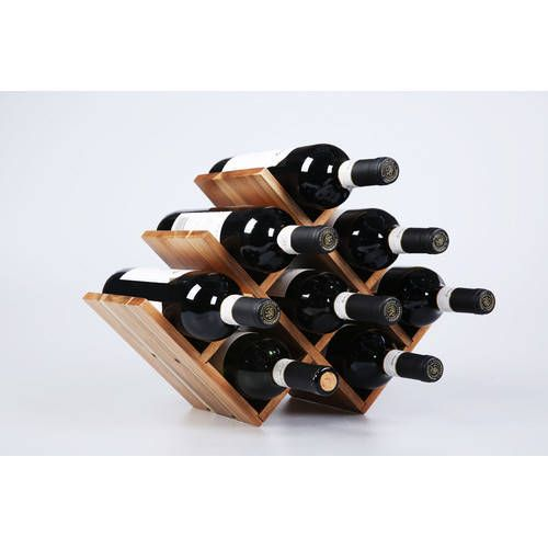 Sherwood Housewares 8 Bottle Acacia Wood Wine Rack