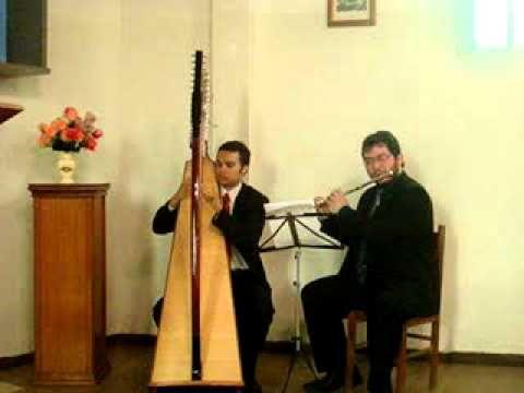 ▶ Londonderry Air com Harpa e Flauta - Música para Entrada e Benção das Alianças Casamentos - YouTube