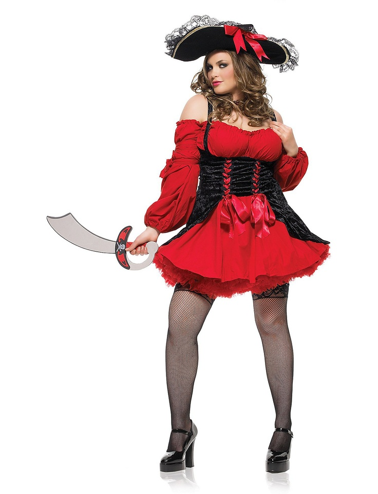 Plus Size Vixen Pirate Wench Adult Costume