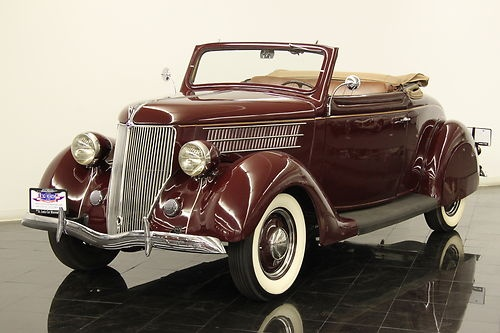 1936 Ford Deluxe Cabriolet ORIGINAL Flathead 221ci V8 3-speed Rumble Seat