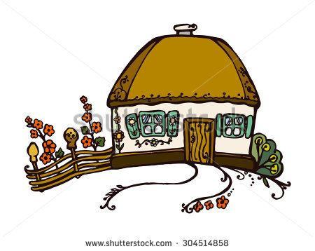 symbol of the Ukrainian village. Eco-friendly housing, wattle and daub https://www.shutterstock.com/g/vitarpan