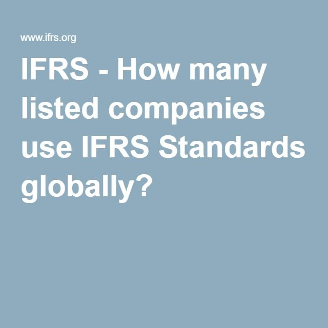 IFRS - How many listed companies use IFRS Standards globally?