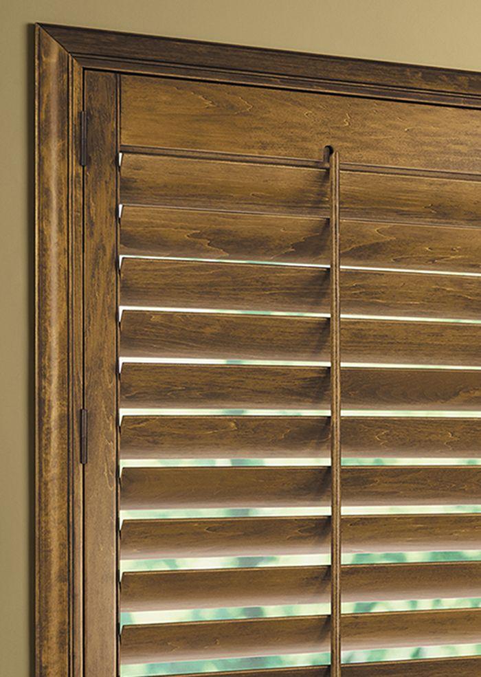Hunter douglas heritance hardwood shutters handcrafted for Window manufacturers