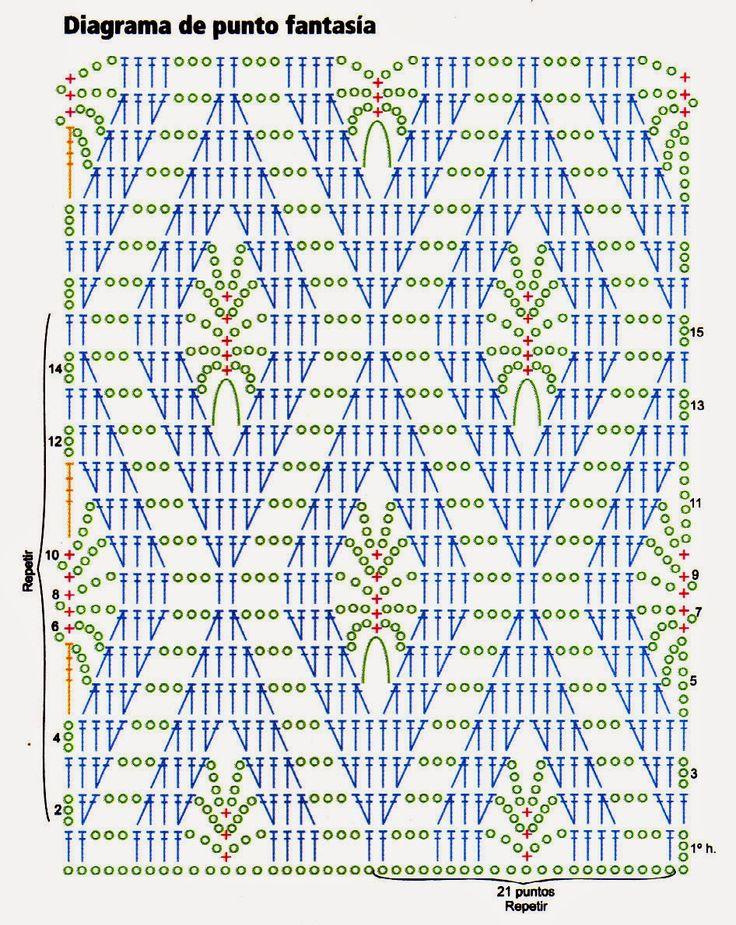 Suéter con rombos - Punto tabla FANTASIA