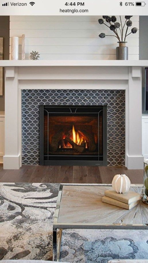 Modern Farmhouse Fireplace Tile