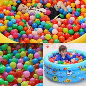 Lot-colore-Balle-Ocean-balles-Doux-Plastique-bebe-Enfant-Nager-Fosse-Jouet-55mm