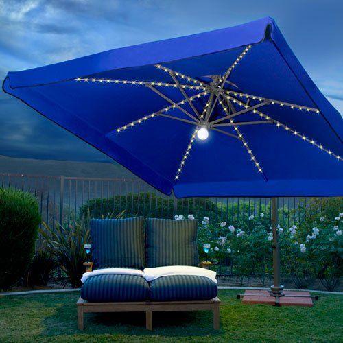 solar lights rectangular patio umbrella patio umbrellas solar lights. Black Bedroom Furniture Sets. Home Design Ideas