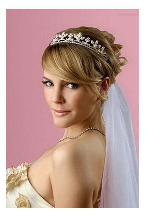 Hairstyles Wedding Updos With Tiara And Veil
