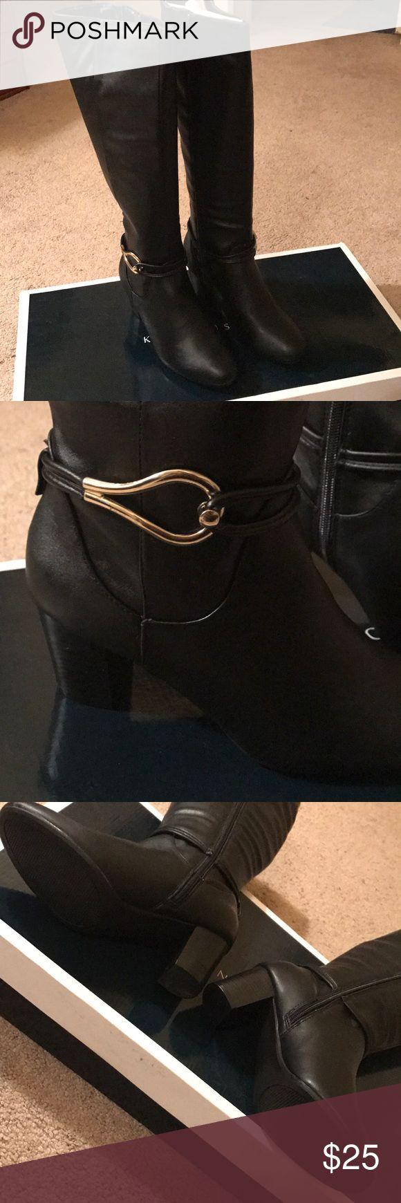 Karen Scott Black Wide Calf Tall Boots Karen Scott Black Wide Calf Tall Boots. Size 7. Never Worn. Still in Originally Packaging. Karen Scott Shoes Heeled Boots