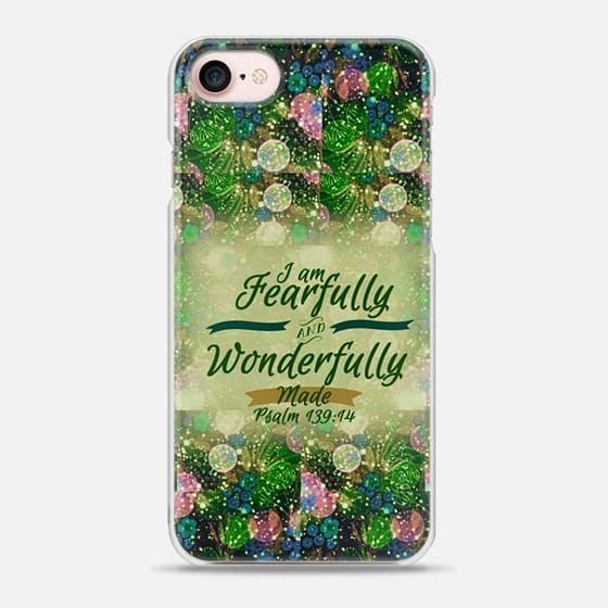 I AM FEARFULLY AND WONDERFULLY MADE 5 - Psalm 139:14 Whimsical Fine Art Colorful Floral Pattern Blue Green Teal Pink Christian Bible Verse Scripture Jesus Christ God Inspiration - Snap Case #Casetify @Casetify #CasetifyArtist #EbiEmporium #ChristianiPhone #Christ #BibleVerse #Scripture #iPhoneCase #iPhone6 #iPhone7 #iPhone8 #iPhoneX #iPhone7Plus #iPhone8Plus #Religious #Faith #Bible #FearfullyandWonderfullyMade #Psalm #Inspiration #Jesus #God #typography #floral #Samsung #colorful