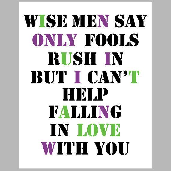 elvis: Help Fall, Falling In Love, Quotes, Fools Rush, Songs Lyrics, Fall In Love, Elvis Presley, Book Jackets, Elvis Songs