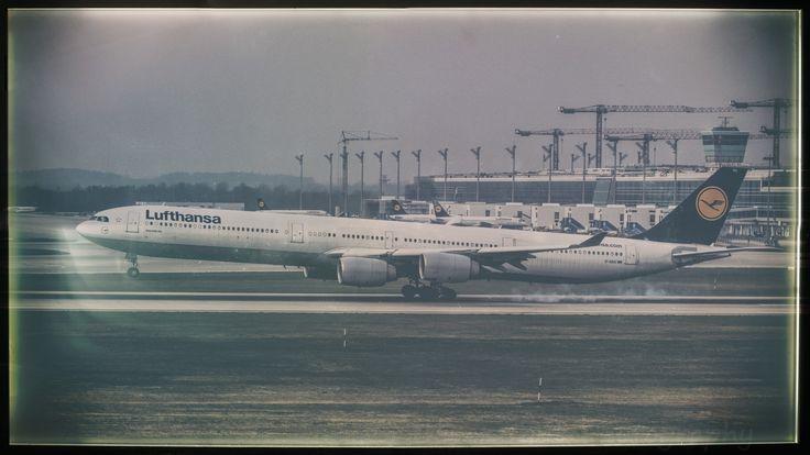 """Lufthansa Airbus(A)340-600 @ MUC by Oliver Tank Photography on 500px Flughafen München """"Franz Josef Strauß"""""""