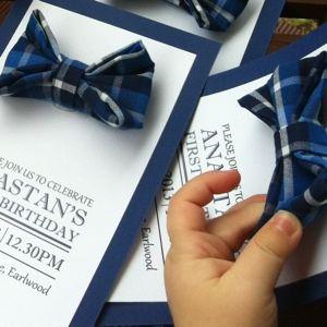Gaia creative sneak peak bowtie invitation - sooo cute