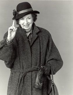 Mary Wickes - one of Hollywood's finest character actors. I loved her in everything, but my facorite scene is in White Christmas, when she laid passionate liplocks on Bing Crosby and Danny Kaye. Fabulous!