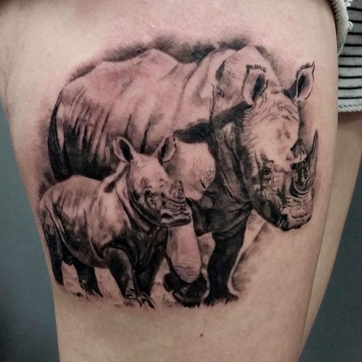 Realistic rhinos. Tattooed by @jolenetat at @divinearttattoo Poole! 01202 743983 #tattoo #tattoos #tattoostudio #tattoosnob #tattooartist #tattooart #tattooideas #realistictattoo #realism #tattoorealism #tattoorealistic #rhinotattoo #rhino #blackandgrey #blackandgreytattoo #animaltattoo #thightattoo #fusionink #ezcartridgecouk #cheyenne @cheyenne_tattooequipment @fusion_ink @ezcartridgecouk @divinearttattoo @tattoorealistic @tattoodo @tattooistartmag @tattoochallenge @tattoofrequency…