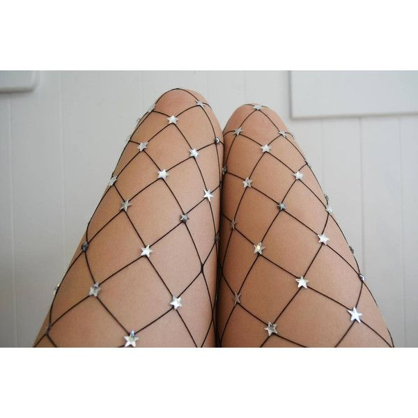 Silver Starry Net Large Mesh Fishnet ($150) ❤ liked on Polyvore featuring intimates, hosiery, tights, grey, women's clothing, gray fishnet tights, grey fishnet tights, fishnet stockings, silver pantyhose and mesh stockings