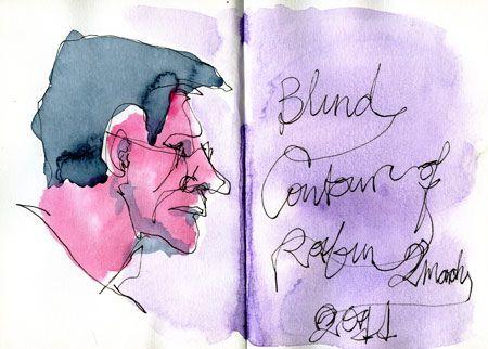 Blind Contour Line Drawing Definition : Best blind contour pieces images drawing