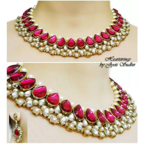 Kundan necklace with earrings