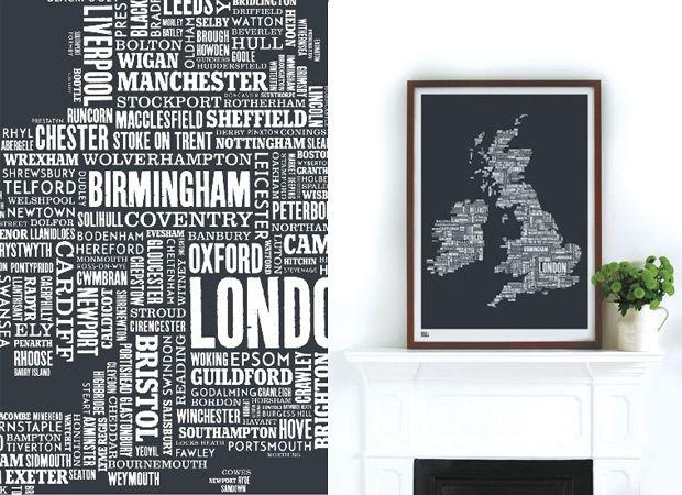 Map of England using type: Types Form Maps, Bold, Screens Prints, Lyrics Maps, Noble, Blog, Maps Prints, Maps Design, Types Maps