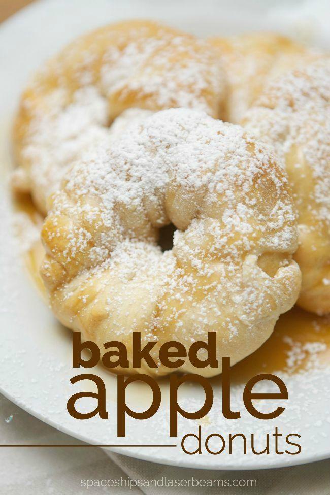 Baked Apple Doughnuts